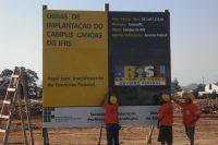 Ato de início das obras do Campus Canoas